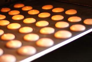 La cuisson des macarons